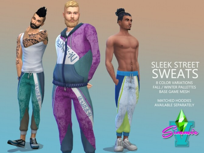 Sims 4 Sleek Street Sweats by SimmieV at TSR