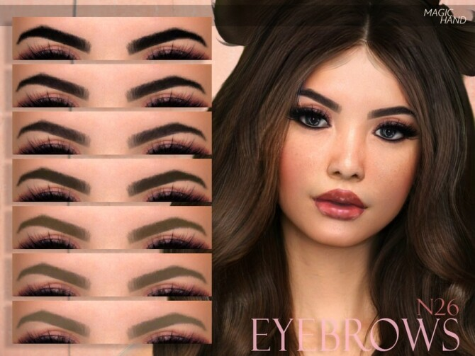 Sims 4 Eyebrows N26 by MagicHand at TSR