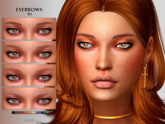 Sims 4 Eyebrows N5 by Suzue at TSR
