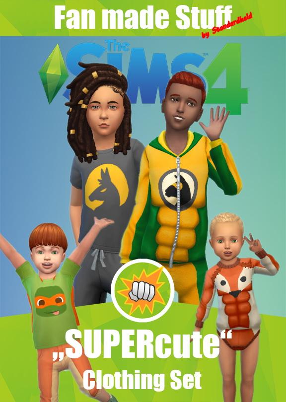 Sims 4 SUPERcute Clothing Set at Standardheld