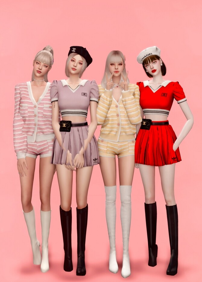 ICECREAM JENNIEs OUTFIT at RIMINGs image 12017 670x931 Sims 4 Updates