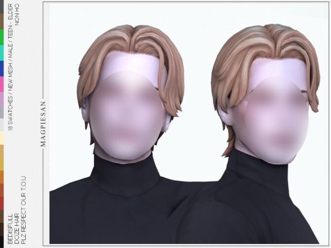 Sims 4 Doze hair by magpiesan at TSR