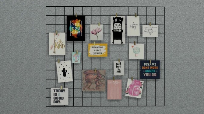 Sims 4 DIY Wire Wall Grid at Sunkissedlilacs