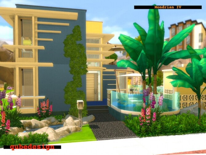 Sims 4 Mondrian IV Home by QubeDesign at TSR