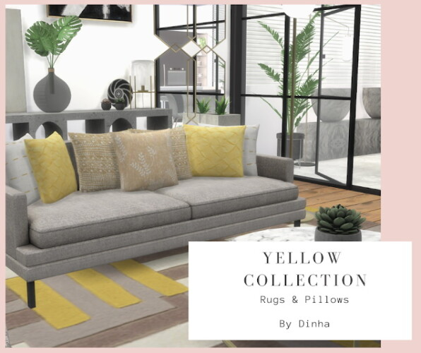 Yellow Collection 9 Rugs 6 Pillows