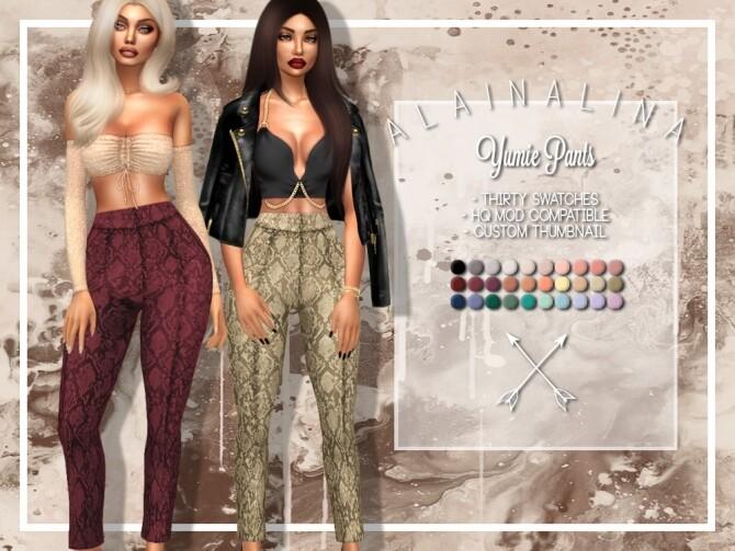 Yumie Pants at AlainaLina image 1246 670x503 Sims 4 Updates