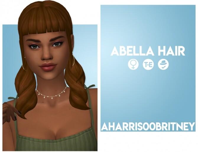 Sims 4 Abella Hair at AHarris00Britney