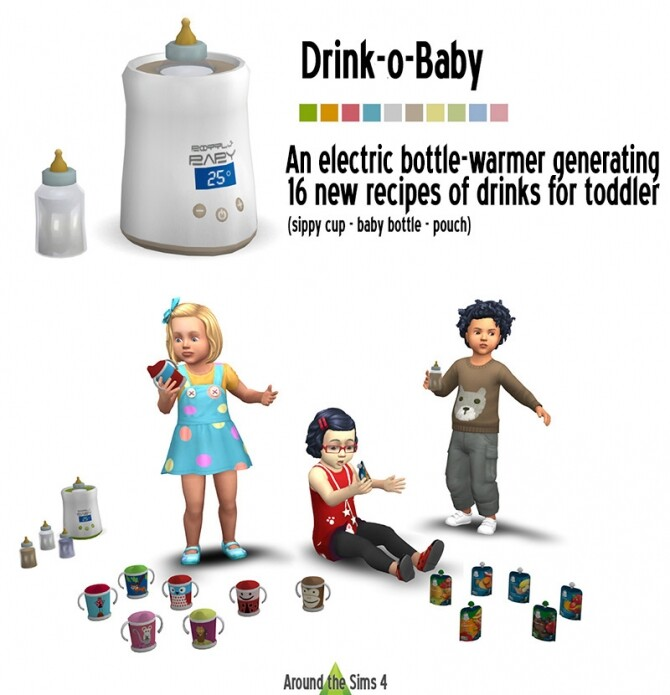 Sims 4 Toddler drinks by Sandy at Around the Sims 4