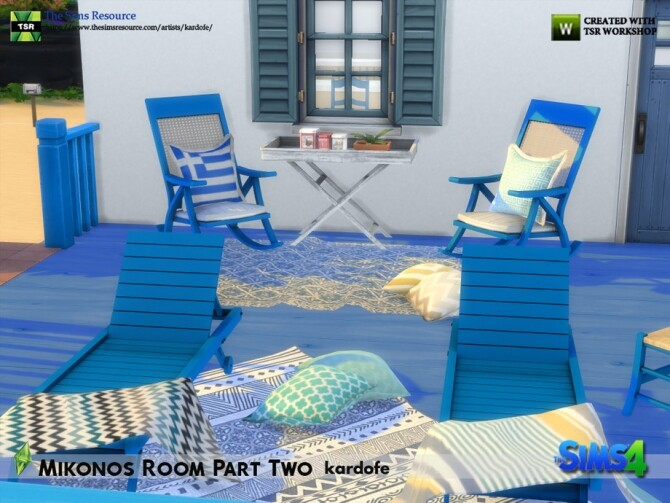 Mikonos Room Part Two by kardofe at TSR image 1255 670x503 Sims 4 Updates