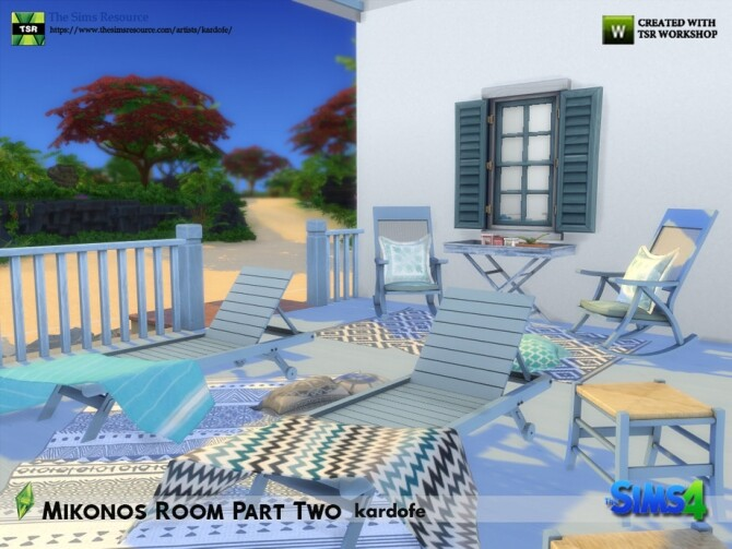Mikonos Room Part Two by kardofe at TSR image 1264 670x503 Sims 4 Updates