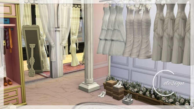 Sims 4 Bridal Shop at Cross Design
