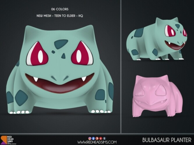 BULBASAUR ODDISH PLANTER by Thiago Mitchell