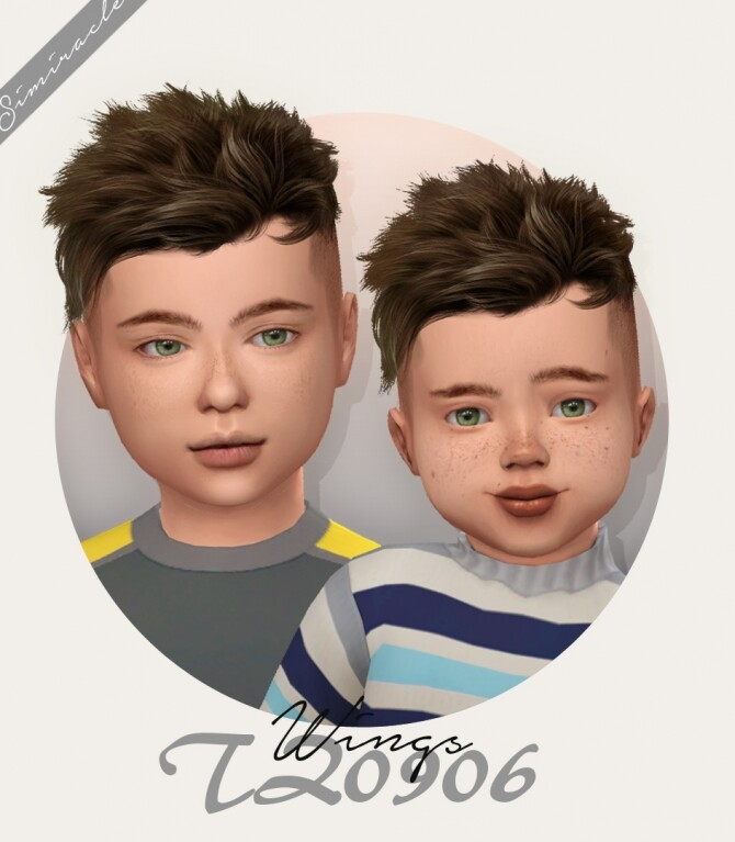 Sims 4 Wings TZ0906 hair for kids and toddlers at Simiracle