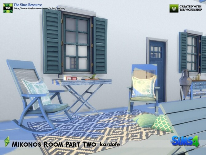 Mikonos Room Part Two by kardofe at TSR image 1275 670x503 Sims 4 Updates