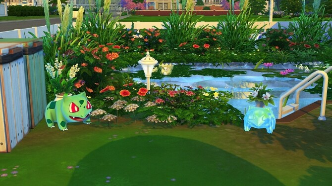BULBASAUR + ODDISH PLANTER by Thiago Mitchell at REDHEADSIMS image 1293 670x377 Sims 4 Updates