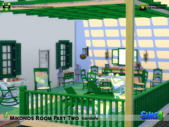 Mikonos Room Part Two by kardofe at TSR image 1295 670x503 Sims 4 Updates