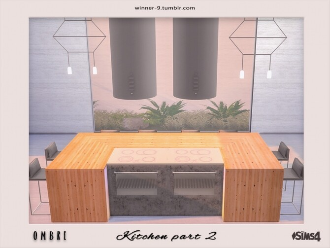 Sims 4 Ombre Kitchen part 2 by Winner9 at TSR