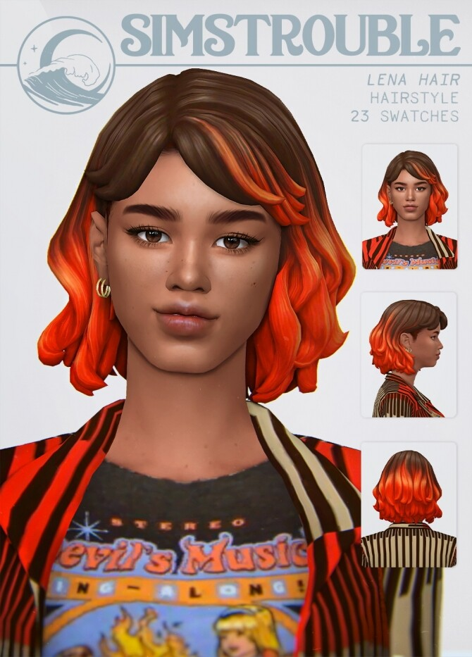 Sims 4 LENA HAIR at SimsTrouble