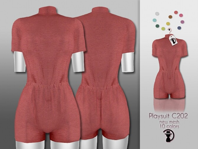 Sims 4 Playsuit C202 by turksimmer at TSR