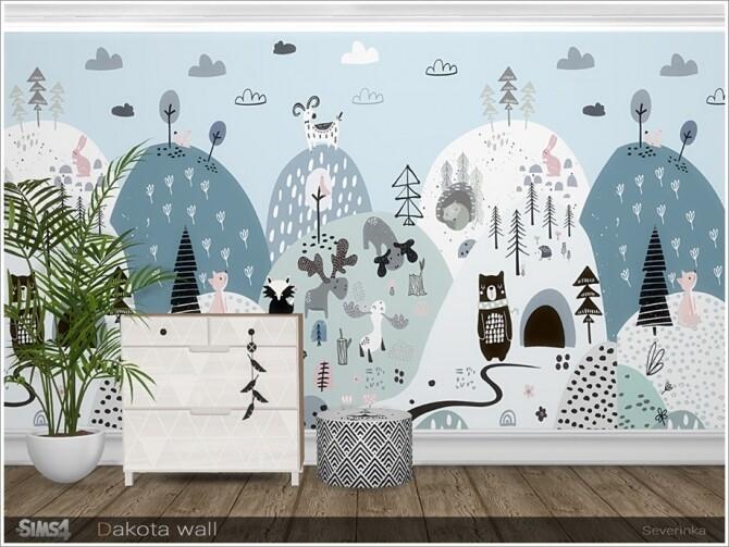 Sims 4 Dakota wall by Severinka at TSR