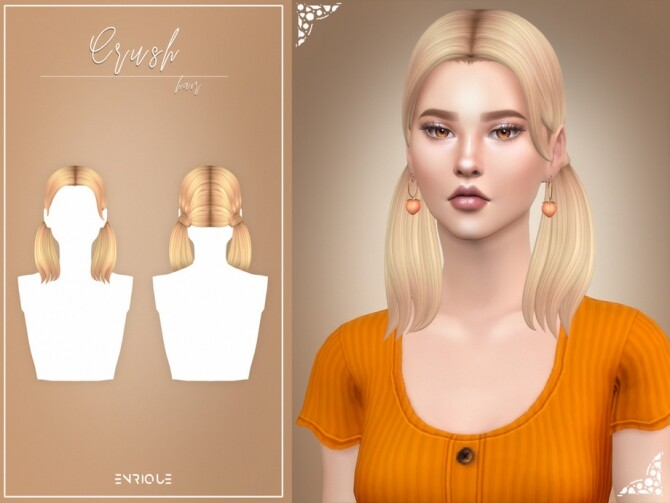 Sims 4 Crush Hairstyle by Enriques4 at TSR