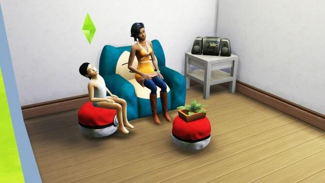 Sims 4 SNORLAX SET at REDHEADSIMS