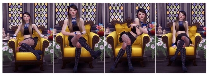 Combination Pose 44 [Sofa] at A luckyday image 1367 670x245 Sims 4 Updates