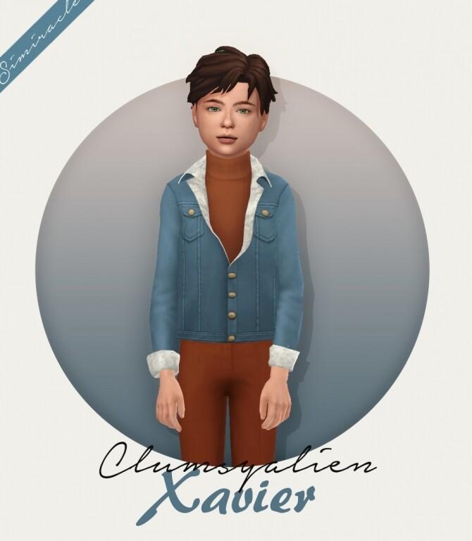 Sims 4 Clumsyalien Xavier Jacket Kids Version at Simiracle