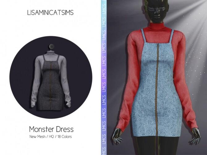 Sims 4 LMCS Monster Dress by Lisaminicatsims at TSR