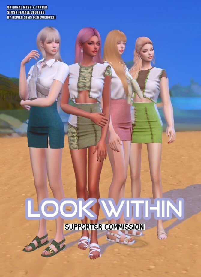 Look Within clothes collection at NEWEN image 1434 670x923 Sims 4 Updates