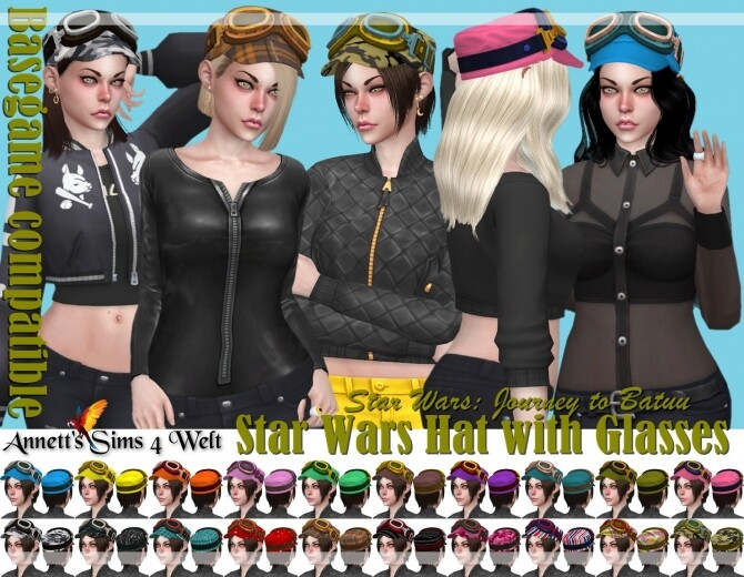 Star Wars Hat with Glasses at Annett's Sims 4 Welt image 14510 670x520 Sims 4 Updates