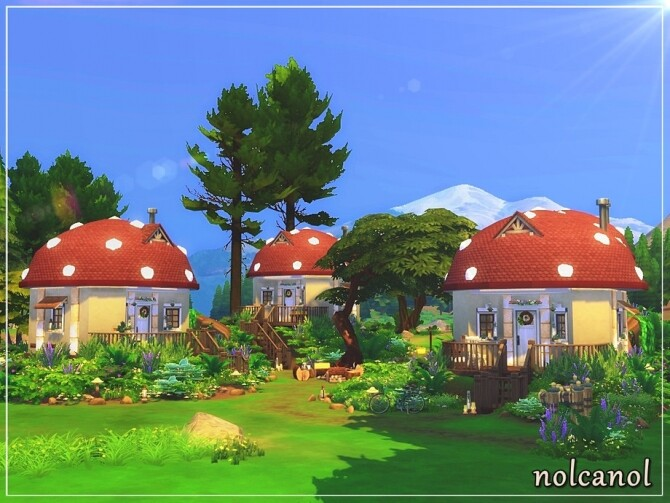 Sims 4 Under the Mushroom home by nolcanol at TSR