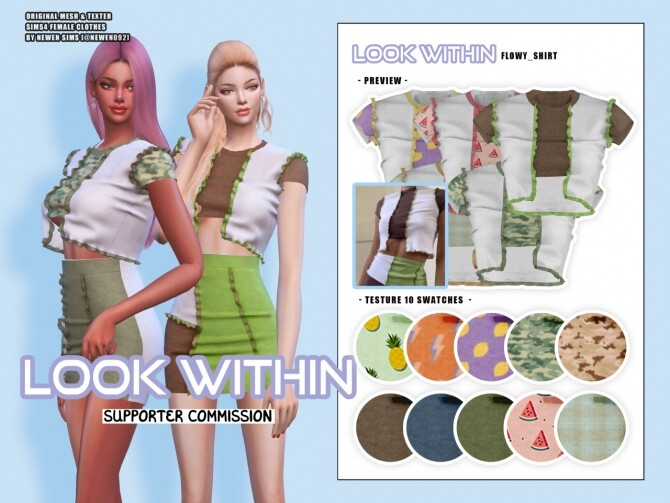 Look Within clothes collection at NEWEN image 1463 670x503 Sims 4 Updates