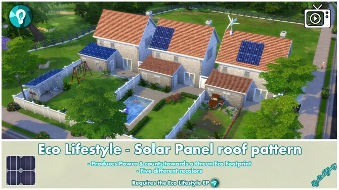 Eco Lifestyle Roof Pattern Solar Panels by Bakie