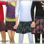 Pleated plaid skirt for girls by bukovka