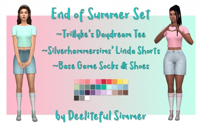 Sims 4 End Of Summer Set at Deeliteful Simmer