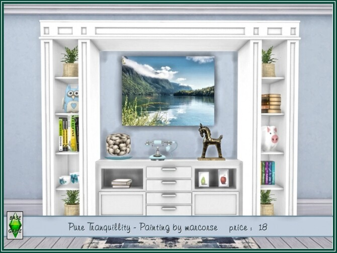Sims 4 Pure Tranquility Painting by marcorse at TSR