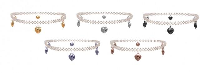 Heart tulip earrings & choker at Bedisfull – iridescent image 1502 670x234 Sims 4 Updates