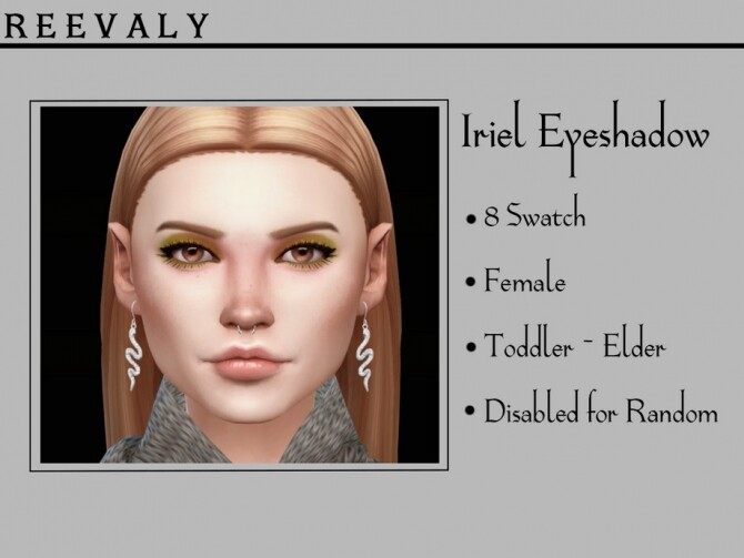 Sims 4 Iriel Eyeshadow by Reevaly at TSR
