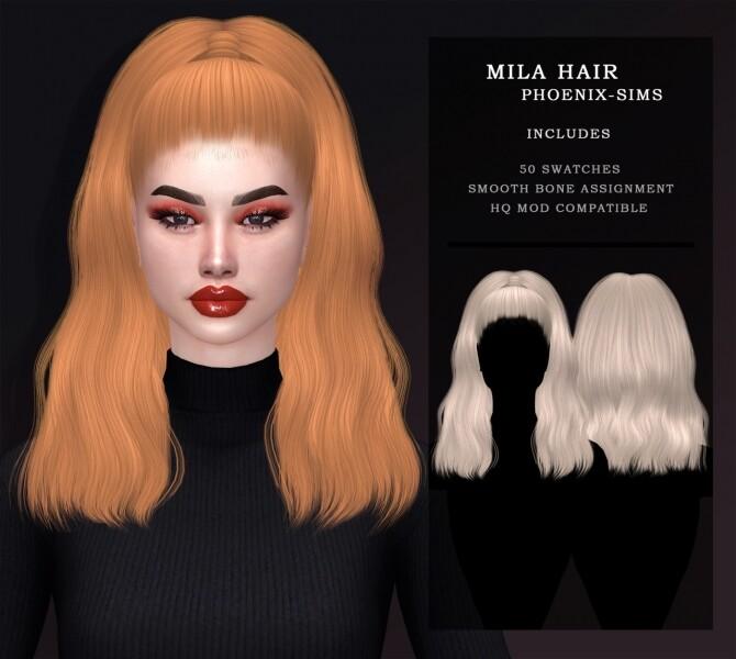 Sims 4 MAURA, MYRIAM & MILA HAIRS at Phoenix Sims
