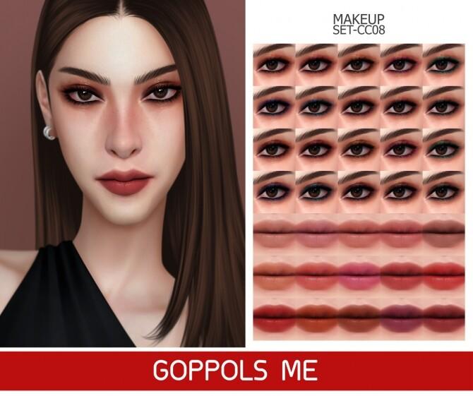 GPME GOLD MAKEUP SET CC08 at GOPPOLS Me image 1523 670x561 Sims 4 Updates