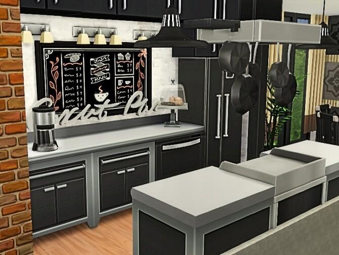 Sims 4 Genevieve modern house in woods by GenkaiHaretsu at TSR