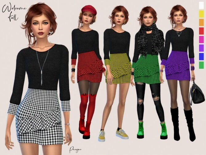 Sims 4 Welcome Fall outfit by Paogae at TSR