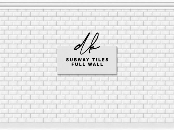 Sims 4 Subway Tiles Full Wall at DK SIMS