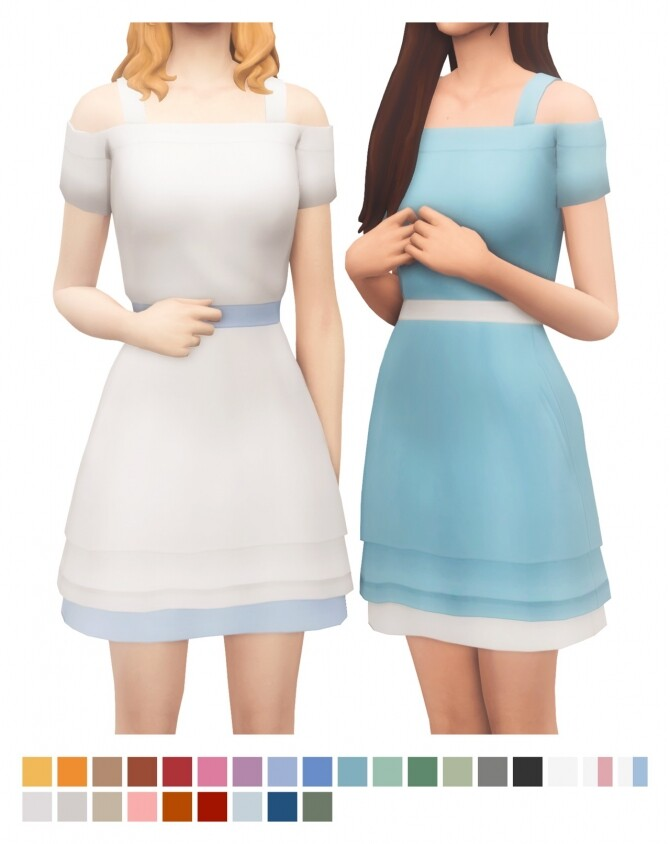 Sims 4 Christa Dress at Sims4Nicole