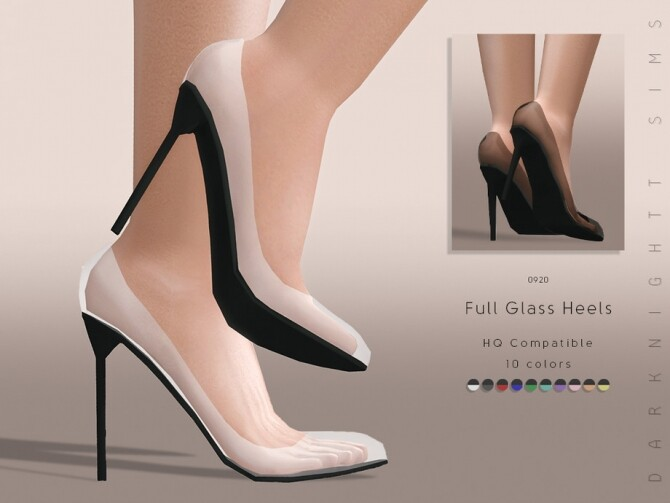 Sims 4 Full Glass Heels by DarkNighTt at TSR