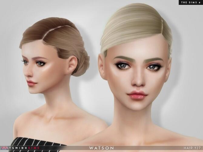 Sims 4 Watson Hair 127 by TsminhSims at TSR