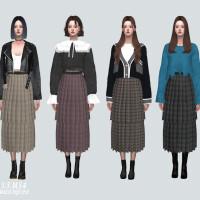 Pleats 22 Long Skirt