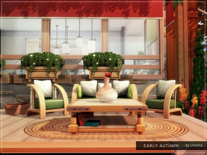 Sims 4 Early Autumn home by Lhonna at TSR