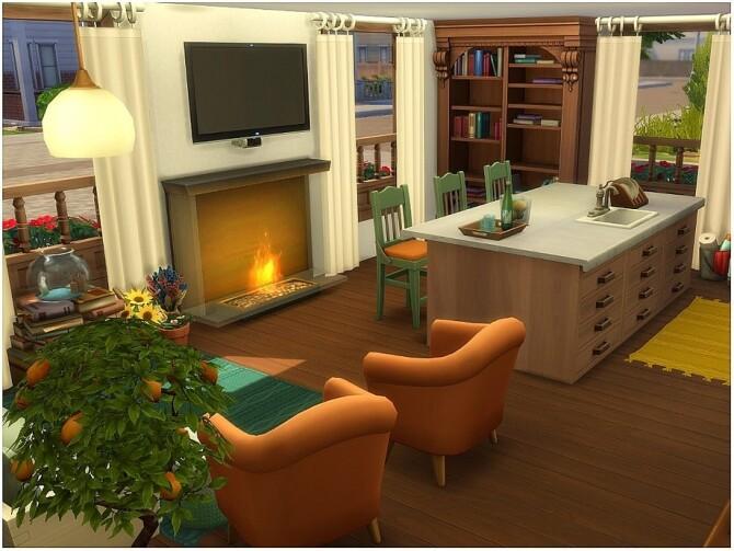 Sims 4 Midtown House by lotsbymanal at TSR